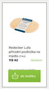 Lufa Redecker přírodní podložka na mýdlo