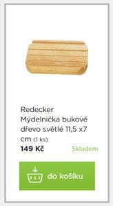 Mýdelnička Redecker bukové dřevo