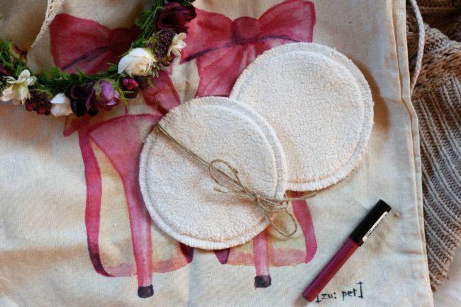 LalaH Odličovací kosmetický tampón látkový bio bavlna beránek