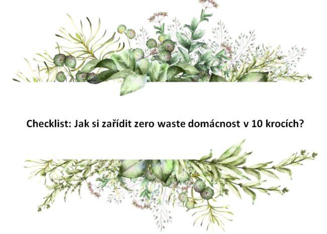 Checklist: Jak si zařídit zero waste domácnost v 10 krocích?
