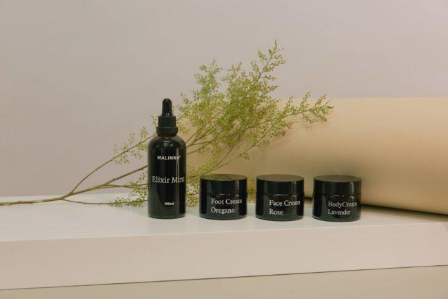 Malinna slovenská značka čisté přírodní kosmetiky ve skle